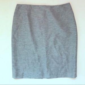 de0ffa1cedada Antonio Melani Blue Metallic Linen Mini Skirt in 8